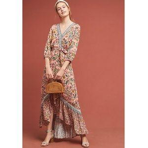 Anthropologie Farm Rio Clara Wrap Maxi Dress